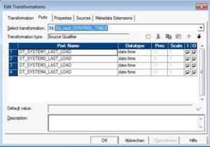 Informatica - Parameterfile dynamisch generieren - Source Qualifier