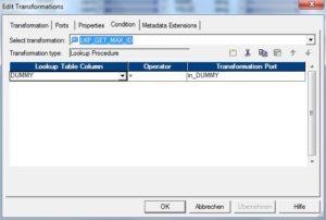 Informatica PK ID erzeugen - Lookup Condition
