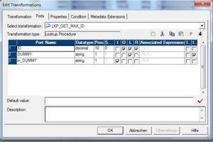 Informatica PK ID erzeugen - Lookup Ports