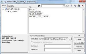 Informatica PK ID erzeugen - Lookup SQL Override