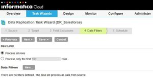 Informatica Cloud - Data Replication Task Step 4
