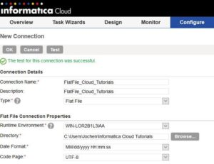 Informatica Cloud - Flatfile Connection anlegen