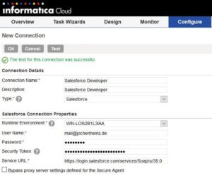 Informatica Cloud - Salesforce Connection anlegen