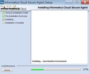 Informatica Cloud Secure Agent installieren Step 3