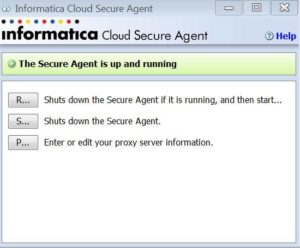 Informatica Cloud Secure Agent running