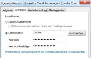 Informatica Cloud Secure Agent Services